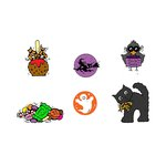 Scrapbook Customs - Rubber Stamp - Halloween Mini's Set 2