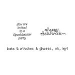 Scrapbook Customs - Rubber Stamp - Halloween Sayings Set