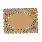 Scrapbook Customs - Rubber Stamp - Embroidery Frame