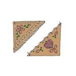 Scrapbook Customs - Rubber Stamp - Embroidery Corner Set