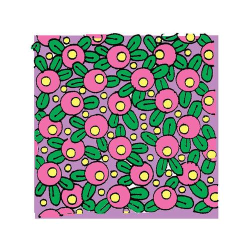 Scrapbook Customs - Rubber Stamp - Floral Background