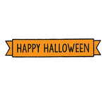 Scrapbook Customs - Rubber Stamp - Happy Halloween Banner