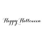 Scrapbook Customs - Rubber Stamp - Happy Halloween Script