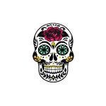 Scrapbook Customs - Rubber Stamp - Sugar Skull