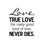 Scrapbook Customs - Rubber Stamp - True Love Never Dies
