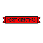 Scrapbook Customs - Rubber Stamp - Merry Christmas Banner