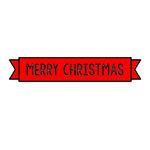 Scrapbook Customs - Rubber Stamp - Merry Christmas Banner