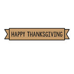 Scrapbook Customs - Rubber Stamp - Happy Thanksgiving Banner