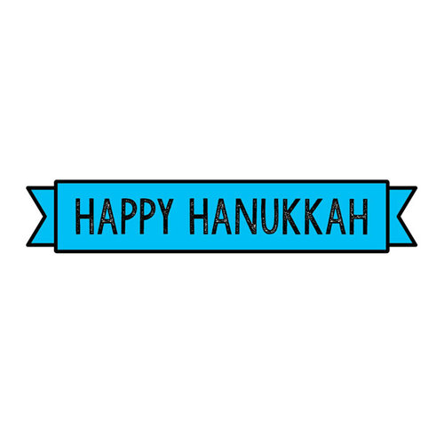 Scrapbook Customs Happy Hanukkah Banner Stamps
