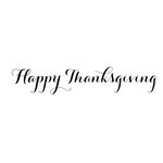 Scrapbook Customs - Rubber Stamp - Happy Thanksgiving Script