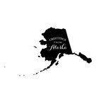 Scrapbook Customs - State Sightseeing Collection - Rubber Stamp - Greetings - Alaska