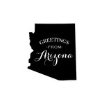 Scrapbook Customs - State Sightseeing Collection - Rubber Stamp - Greetings - Arizona