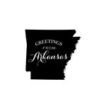 Scrapbook Customs - State Sightseeing Collection - Rubber Stamp - Greetings - Arkansas