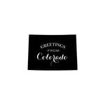 Scrapbook Customs - State Sightseeing Collection - Rubber Stamp - Greetings - Colorado