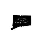 Scrapbook Customs - State Sightseeing Collection - Rubber Stamp - Greetings - Connecticut