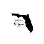 Scrapbook Customs - State Sightseeing Collection - Rubber Stamp - Greetings - Florida