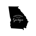 Scrapbook Customs - State Sightseeing Collection - Rubber Stamp - Greetings - Georgia