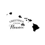 Scrapbook Customs - State Sightseeing Collection - Rubber Stamp - Greetings - Hawaii