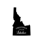 Scrapbook Customs - State Sightseeing Collection - Rubber Stamp - Greetings - Idaho