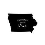 Scrapbook Customs - State Sightseeing Collection - Rubber Stamp - Greetings - Iowa