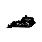 Scrapbook Customs - State Sightseeing Collection - Rubber Stamp - Greetings - Kentucky