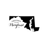 Scrapbook Customs - State Sightseeing Collection - Rubber Stamp - Greetings - Maryland