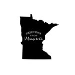 Scrapbook Customs - State Sightseeing Collection - Rubber Stamp - Greetings - Minnesota