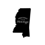 Scrapbook Customs - State Sightseeing Collection - Rubber Stamp - Greetings - Mississippi