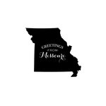 Scrapbook Customs - State Sightseeing Collection - Rubber Stamp - Greetings - Missouri