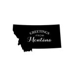 Scrapbook Customs - State Sightseeing Collection - Rubber Stamp - Greetings - Montana