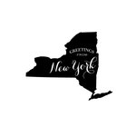 Scrapbook Customs - State Sightseeing Collection - Rubber Stamp - Greetings - New York