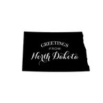 Scrapbook Customs - State Sightseeing Collection - Rubber Stamp - Greetings - North Dakota