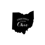 Scrapbook Customs - State Sightseeing Collection - Rubber Stamp - Greetings - Ohio
