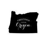 Scrapbook Customs - State Sightseeing Collection - Rubber Stamp - Greetings - Oregon