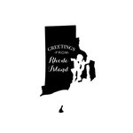Scrapbook Customs - State Sightseeing Collection - Rubber Stamp - Greetings - Rhode Island