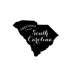 Scrapbook Customs - State Sightseeing Collection - Rubber Stamp - Greetings - South Carolina