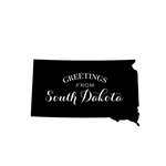 Scrapbook Customs - State Sightseeing Collection - Rubber Stamp - Greetings - South Dakota