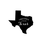Scrapbook Customs - State Sightseeing Collection - Rubber Stamp - Greetings - Texas