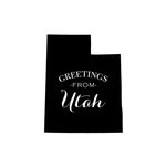 Scrapbook Customs - State Sightseeing Collection - Rubber Stamp - Greetings - Utah