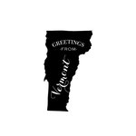 Scrapbook Customs - State Sightseeing Collection - Rubber Stamp - Greetings - Vermont