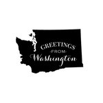 Scrapbook Customs - State Sightseeing Collection - Rubber Stamp - Greetings - Washington