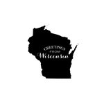 Scrapbook Customs - State Sightseeing Collection - Rubber Stamp - Greetings - Wisconsin
