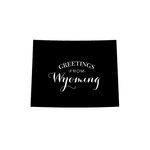 Scrapbook Customs - State Sightseeing Collection - Rubber Stamp - Greetings - Wyoming
