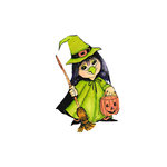 Scrapbook Customs - Halloween - Rubber Stamp - Witch Costume