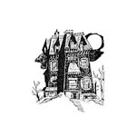 Scrapbook Customs - Halloween - Rubber Stamp - Haunted Mansion