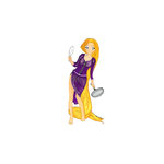 Scrapbook Customs - Rubber Stamp - Rapunzel