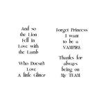 Scrapbook Customs - Rubber Stamp - Forever Sayings 2