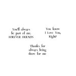 Scrapbook Customs - Rubber Stamp - Forever Friends Sayings 1