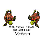 Scrapbook Customs - Rubber Stamp - Mahalo Turtles