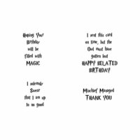 Scrapbook Customs - Rubber Stamp - Wizard Words